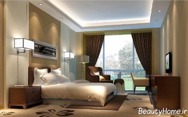دکوراسیون اتاق خواب معمولی و ساده