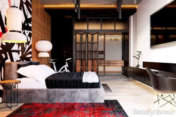 طراحی شیک و مدرن اتاق خواب