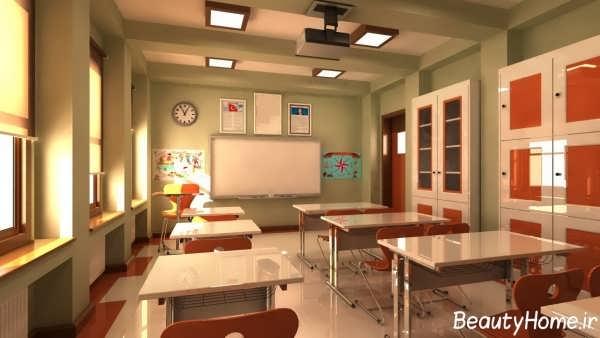 طراحی داخلی مدرسه شیک