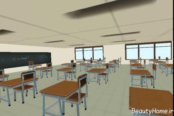 دکوراسیون داخلی شیک و مدرن مدرسه