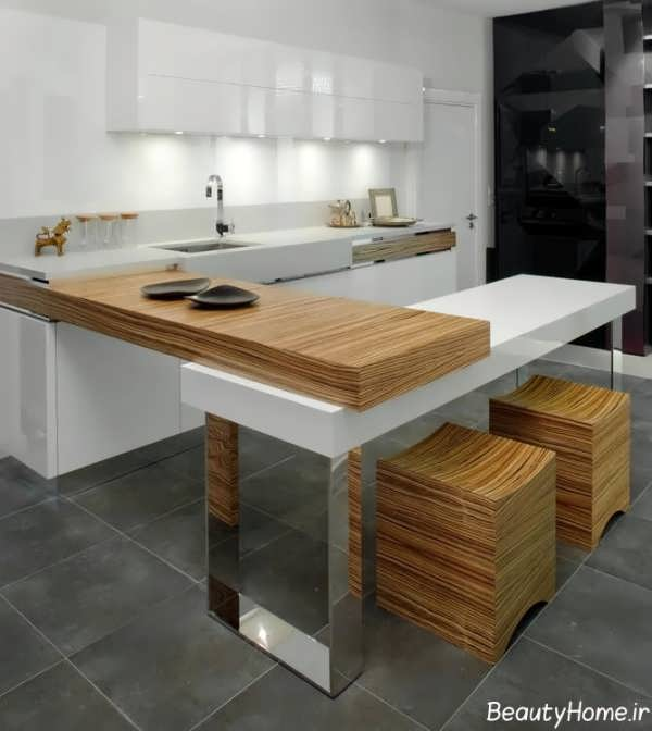 دکوراسیون داخلی آشپزخانه متفاوت و ساده