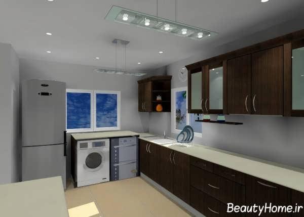 طراحی دکوراسیون داخلی آشپزخانه ساده