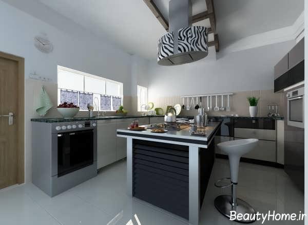 دکوراسیون مدرن آشپزخانه ساده