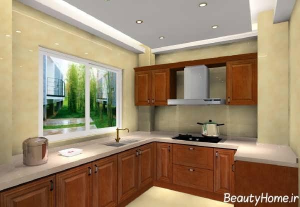 دکوراسیون داخلی آشپزخانه جذاب و ساده