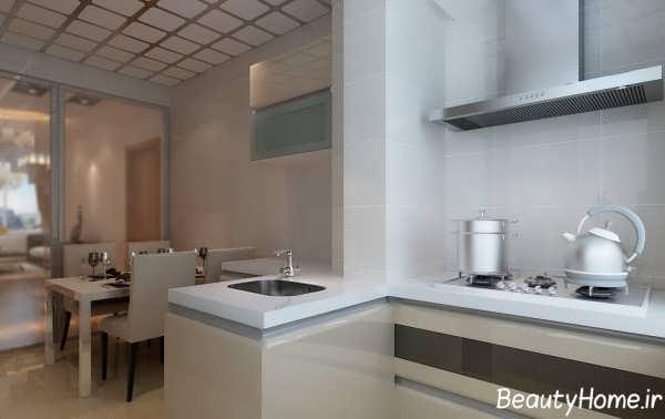 دکوراسیون داخلی آشپزخانه زیبا و ساده