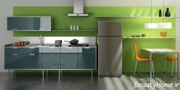 دکوراسیون داخلی آشپزخانه شیک و ساده