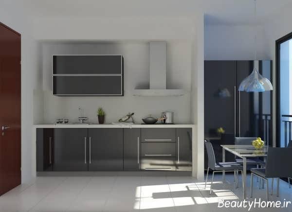 دکوراسیون داخلی آشپزخانه لوکس و ساده