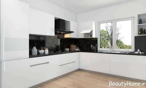 دکوراسیون داخلی آشپزخانه مدرن و ساده