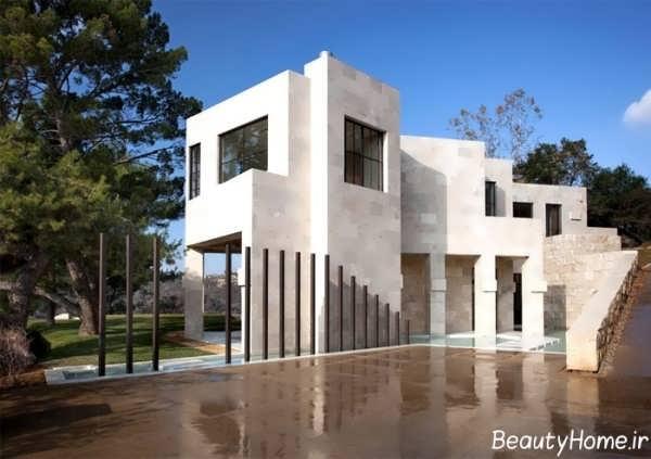 نمای شیک و ساده ساختمان مدرن
