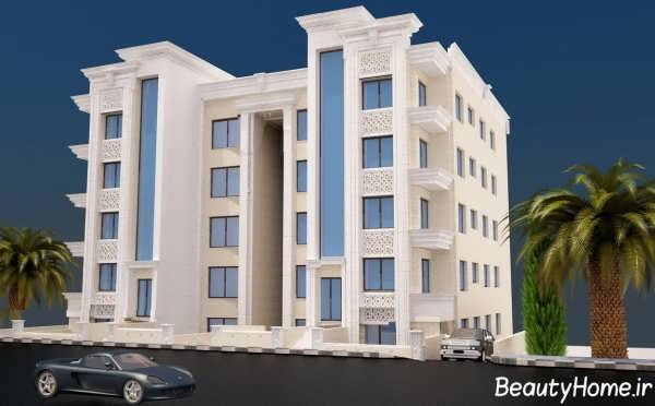 نمای ساختمان سنگ با طراحی جدید