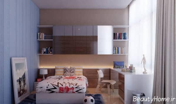 دکوراسیون اتاق پسر نوجوان با طراحی شیک و زیبا