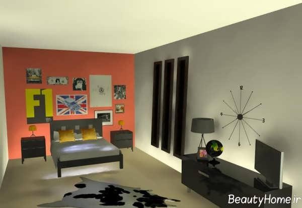طراحی داخلی اتاق خواب شیک پسرانه