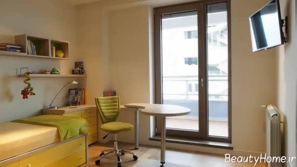 طراحی داخلی اتاق خواب پسرانه شیک