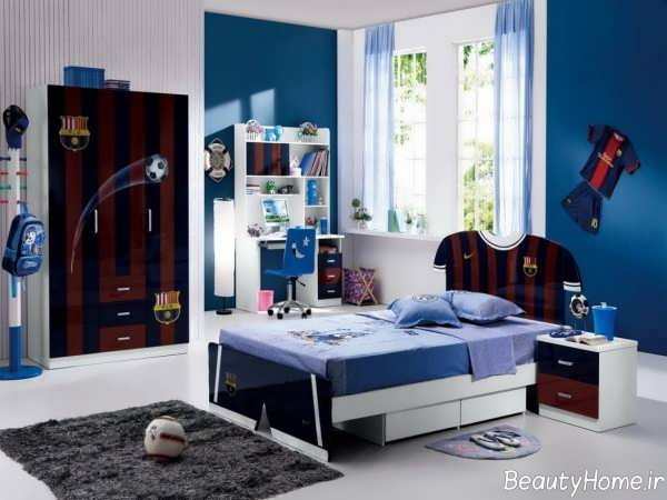 دکوراسیون آبی اتاق نوجوان