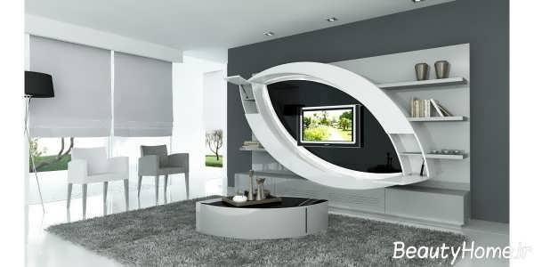 مدل خاص میز تلویزیون سفید