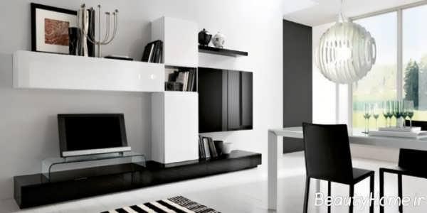مدل به روز میز تلویزیون سفید