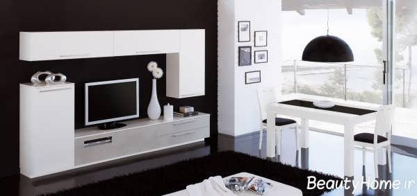 مدل زیبای میز تلویزیون سفید