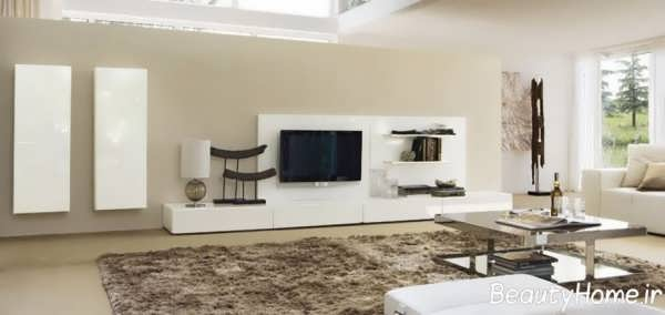 مدل جذاب میز تلویزیون سفید
