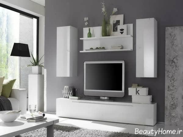 مدل شیک میز تلویزیون سفید