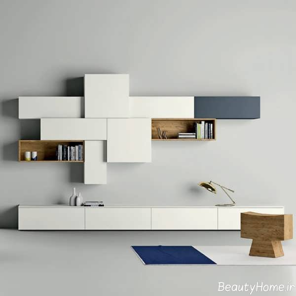 مدل مدرن میز تلویزیون سفید