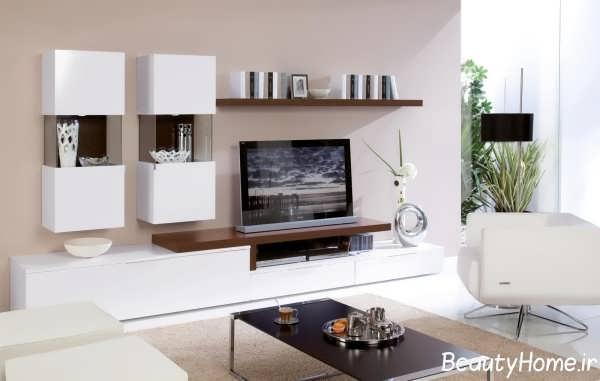 جدیدترین مدل میز تلویزیون سفید