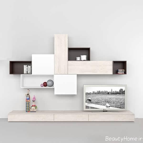 لوکس ترین مدل میز تلویزیون سفید