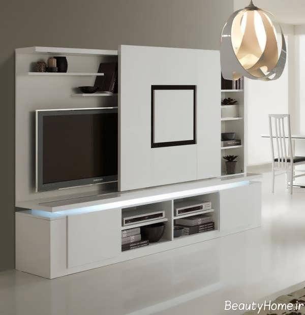 میز تلویزیون سفید جادار