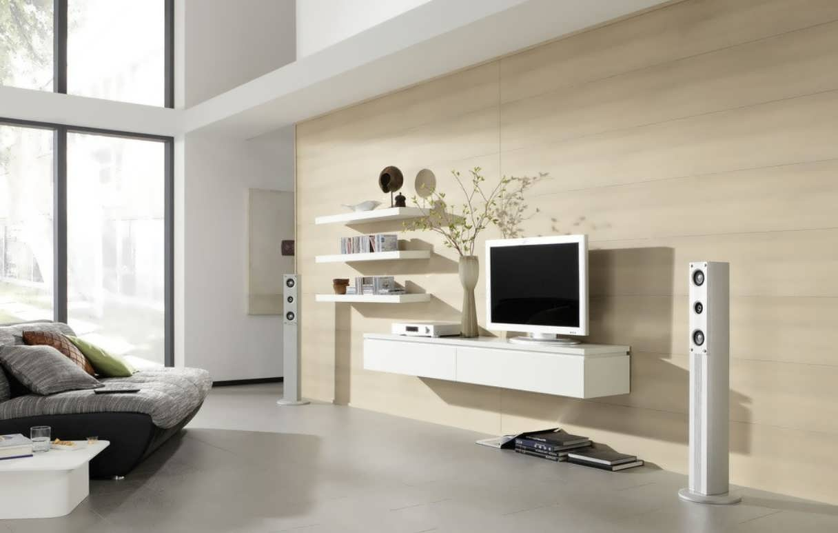 میز تلویزیون سفید جدید ال سی دی