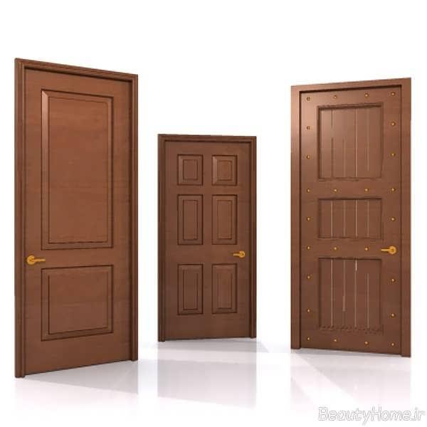 درب چوبی پیل دار اتاق نشیمن
