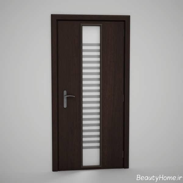 طرح جدید درب چوبی