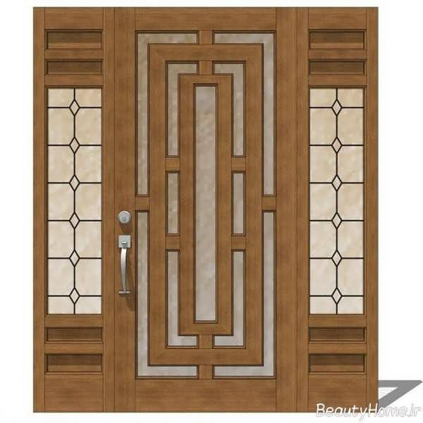 درب ورودی چوبی مکان تجاری و اداری