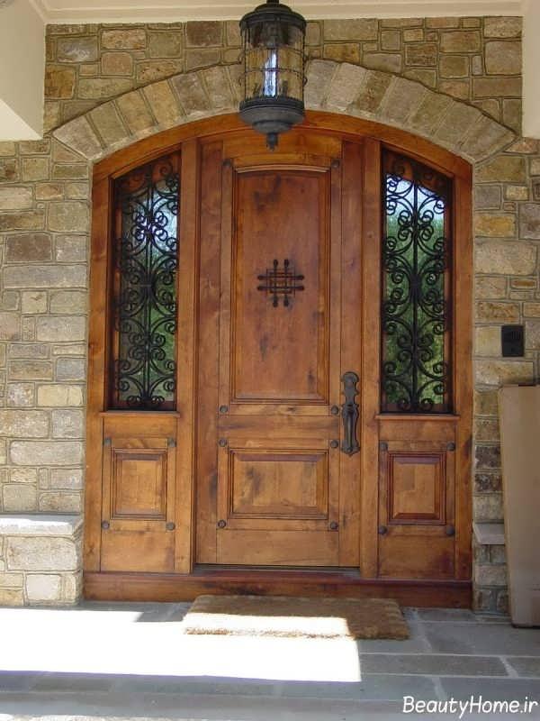 درب چوبی مدرن و خاص ضد سرقت