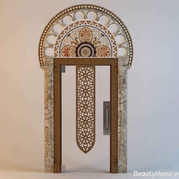 مدل مدرن درب چوبی