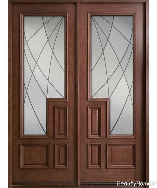 مدل درب شیشه ای و چوبی