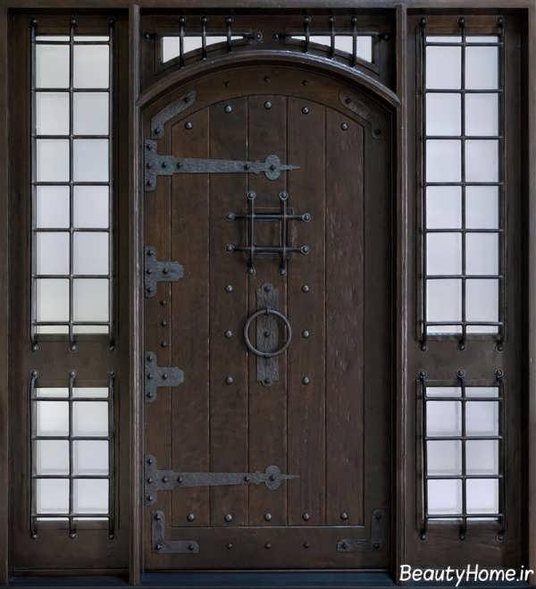 درب چوبی کلاسیک جدید