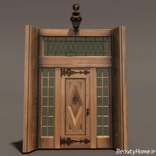مدل زیباترین درب چوبی