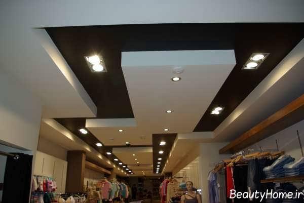 مدل کناف سقف مغازه و فروشگاه