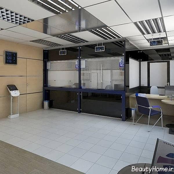 طراحی داخلی بانک با کمک ایده های مدرن