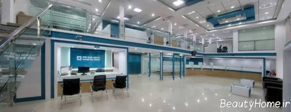 دیزاین داخلی بانک با دکوراسیون شیک