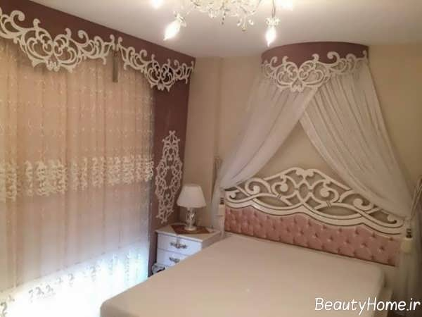 مدل پرده کتیبه برای اتاق خواب