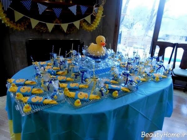 تزیین شیک و جذاب میز تولد