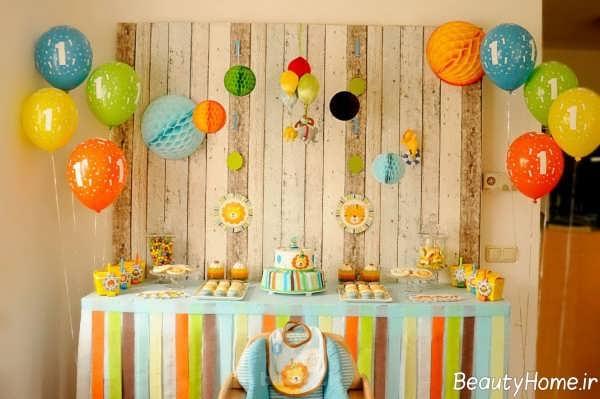 تزیین میز تولد با کمک ایده های خلاقانه