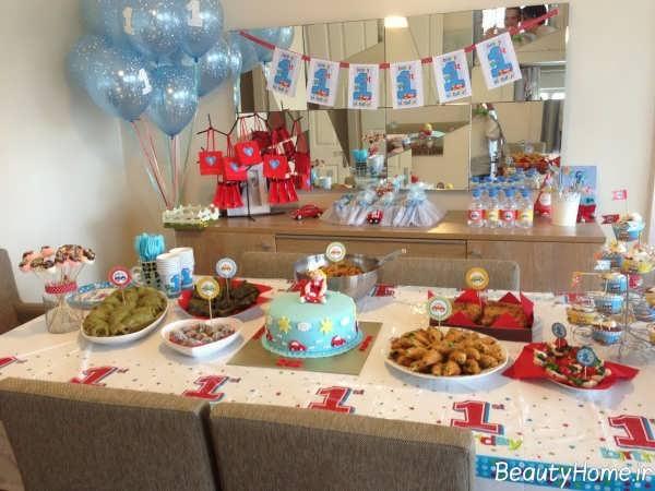 تزیین میز تولد برای جشن تولد دخترانه و پسرانه