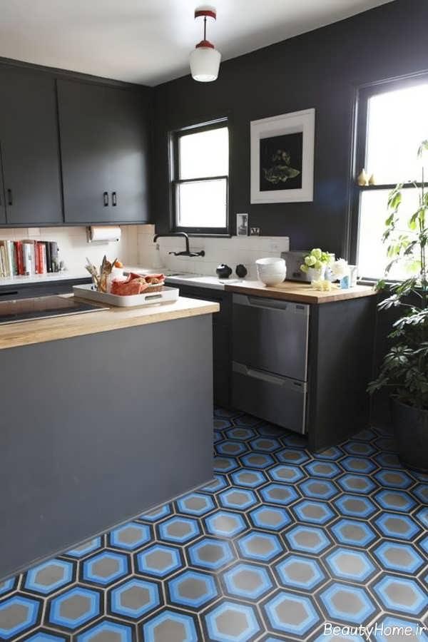 سرامیک شیک و جذاب برای کف آشپزخانه