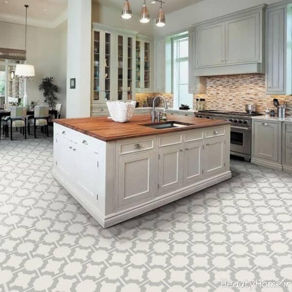 Retro Linoleum Kitchen Flooring: طرح سرامیک کف آشپزخانه جدید و بسیار شیک