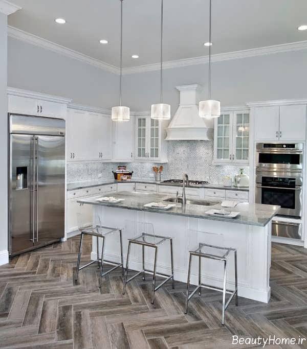 طرح سرامیک زیبا برای کف آشپزخانه