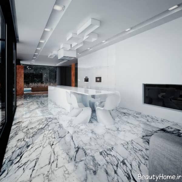مدل سرامیک طرح دار و زیبا کف آشپزخانه