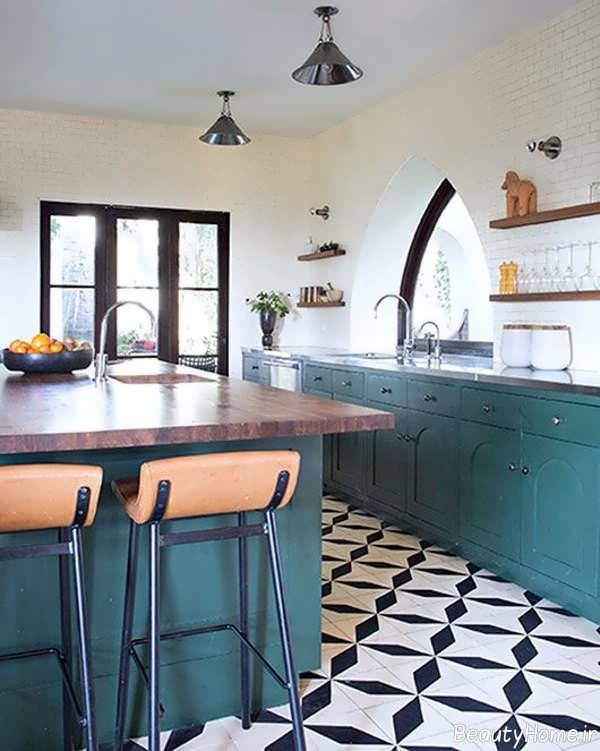 مدل سرامیک کف آشپزخانه شیک و جدید