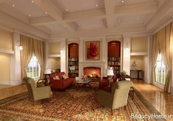 معماری داخلی کلاسیک با طراحی متفاوت و خاص