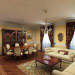 معماری داخلی کلاسیک با طراحی شیک و کاربردی